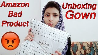 Amazon gown with price | Gown Unboxing | Amazon Bad Product Received