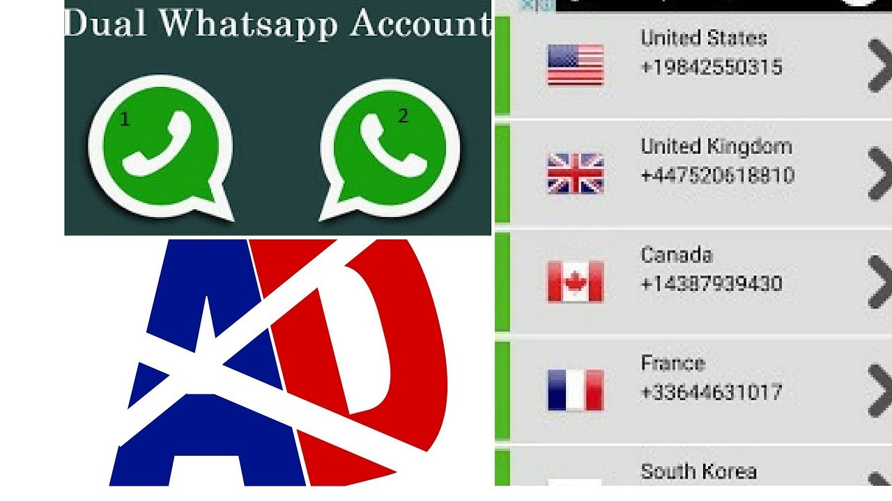 How To Use Whatsapp without sim card Get virtual number for free (App link  in Description)