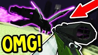 KILLING THE ENDER DRAGON WITH A GUN!? (Minecraft Boundless Modded Survival #15)