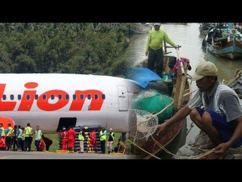 Cerita Nelayan Perahu Terdorong Gelombang usai Lihat Pesawat Terbang Miring di Hari Lion Air Jatuh