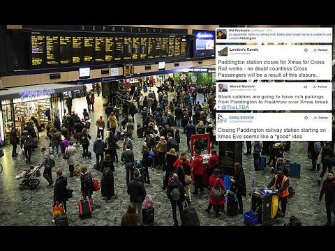 Christmas getaway in chaos as rail passengers at Paddington discover it is already shut and won