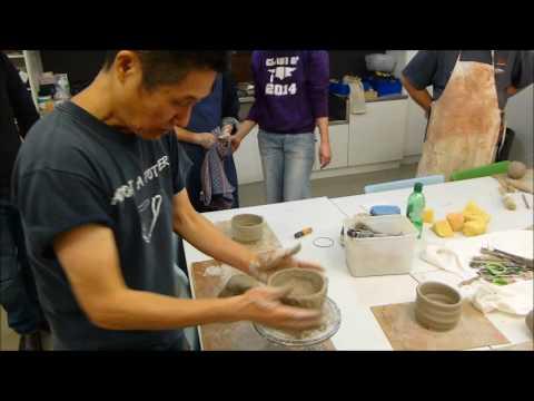 Shozo Michikawa demonstration 5    workshop day    handbuilding a Shino style ceramic teabowl