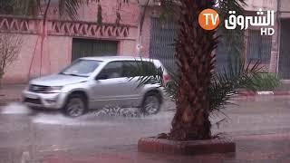 استمرار تساقط الأمطار على المناطق الوسطى والغربية