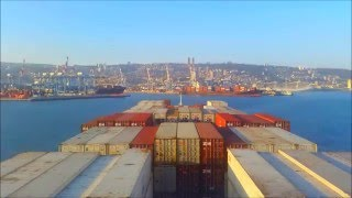 Container ship timelapse