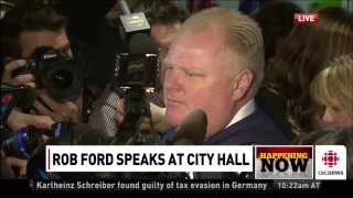 Toronto mayor Rob Ford says he gets enough pussy to eat at home