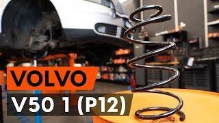 Hvordan udskiftes fjærer foran / spiralfjærer foran on VOLVO V50 1 (P12) [GUIDE AUTODOC]