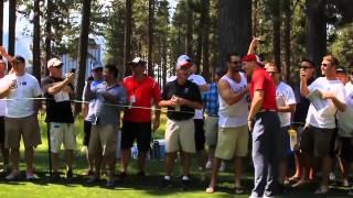 AJ Hawk tackles Fan at American Century Championship