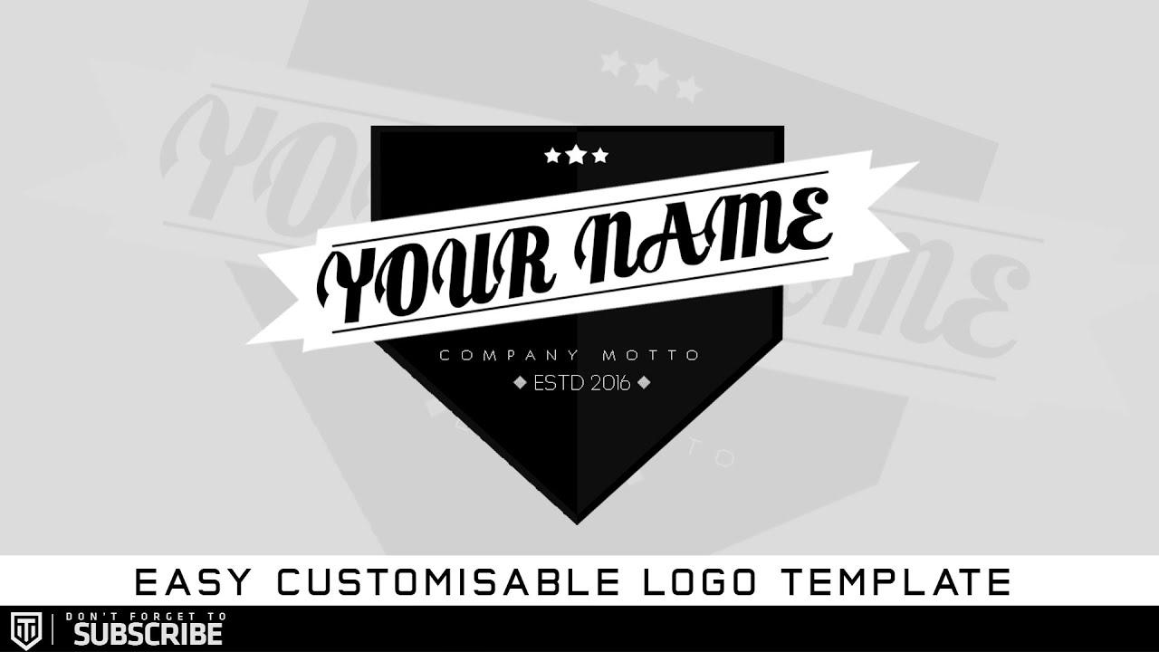 free photoshop logo template tronarts youtube