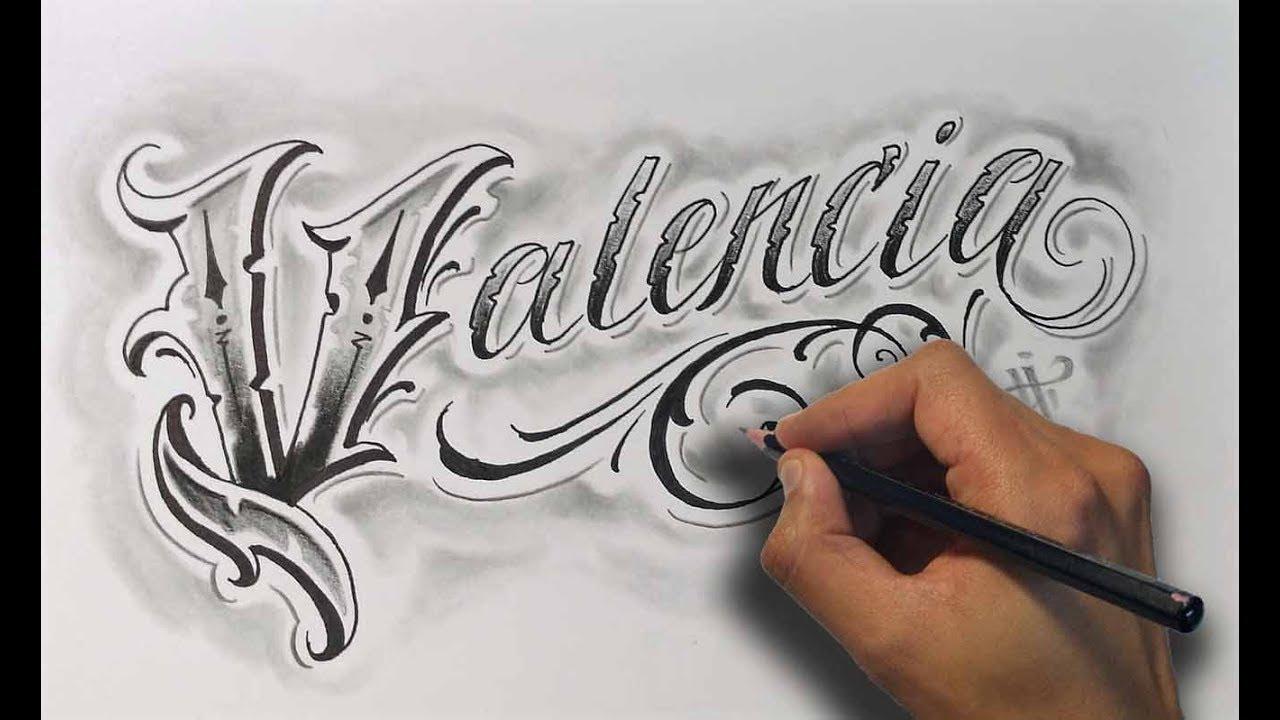 Dibujando Letras Chicanas Valencia Drawing Chicano Lettering