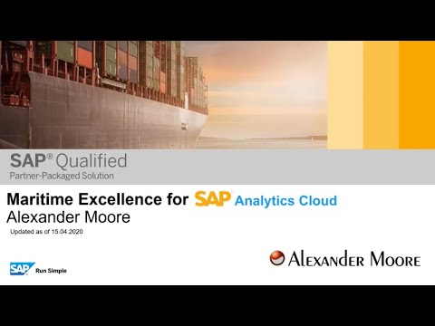 Maritime Excellence For SAP Analytics Cloud