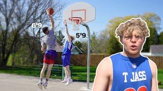 INTENSE 1v1 Basketball VS 6'9 College Hooper!