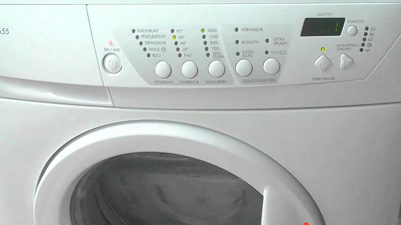 bedienelemente von privileg 6655 waschmaschine youtube. Black Bedroom Furniture Sets. Home Design Ideas