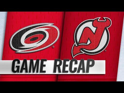 Johansson, Hischier lift Devils past Hurricanes, 3-2