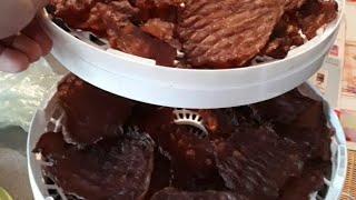 Мясные чипсы из свинины (в сушилке для фруктов и овощей)