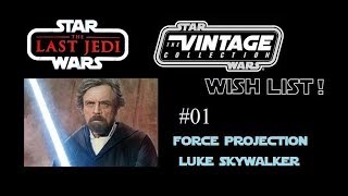 Hasbro! Please put a Force Projection Luke Skywalker on Crait in the Vintage Collection 2018!