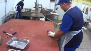 Моя быстрая нарезка бефстрогонова и зачистка мяса!