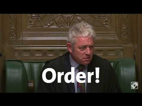 Order! Speaker John Bercow Sorgt Im House Of Commons Für Ordnung