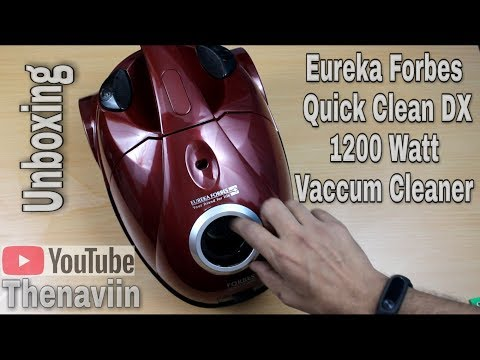 Eureka Forbes Quick Clean DX Dry 1200 Watt Vacuum Cleaner  (Black, Red) Unboxing | Thenaviin