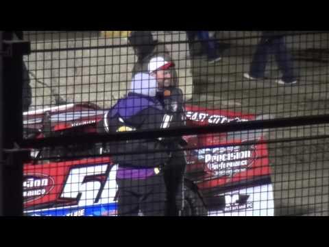 Denny Eckrich feature winner Deery Brothers IMCA Late Model Series West Liberty Raceway 4/9/16