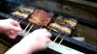 Grilling Unagi Kabayaki