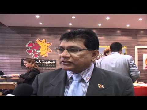 Rajiv Shandilya, Chairman, Tourism Development Company Trinidad & Tobago @ ITB Berlin 2012