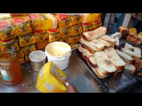 BUTTER TOAST,JELLY TOAST AND TEA,VERY POPULAR STREET TIFFIN IN KOLKATA.