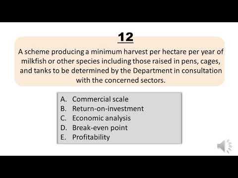Fisheries Board Exam Reviewer Q381-410 TOPIC: Capture Fisheries
