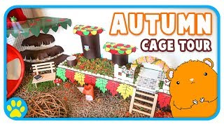🍂 Iodine's Autumn Themed Hamster Cage Tour 🍂