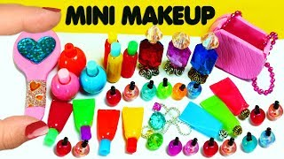 💋💄 How to Make 10 Miniature Makeup / Beauty Items / Cosmetic Products - 10 Easy DIY Doll Crafts