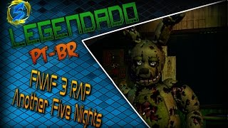 FNAF 3 RAP - Another Five Nights - JT MACHINIMA (LEGENDADO PT-BR)