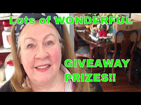 LOTS OF WONDERFUL GIVEAWAY PRIZES, WITH MORE COMING! SEE LIST BELOW