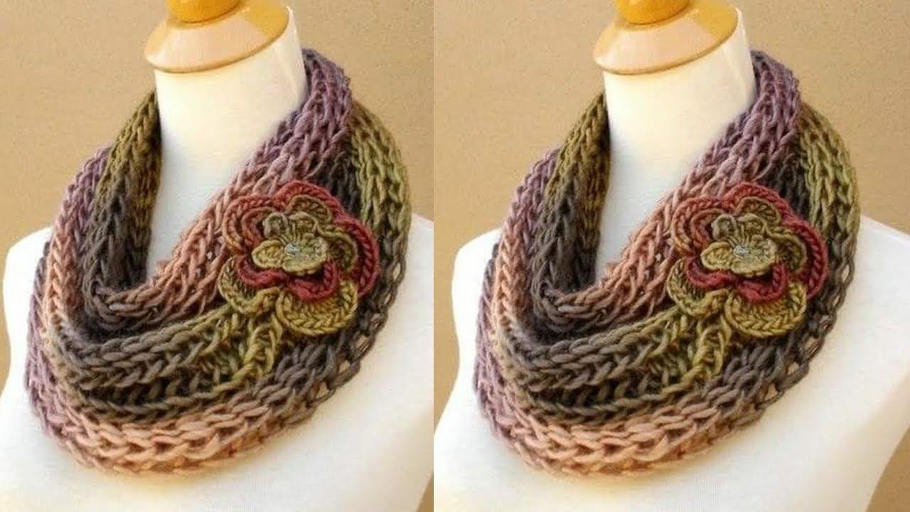baratas para descuento 3eb1c d3f23 Chalina Bufanda a Crochet para Mujer
