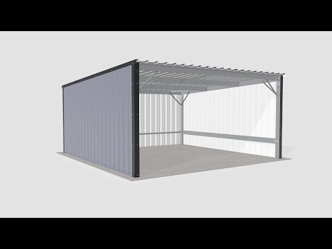 Steel Metal Shed Carport Assembly
