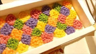 Making and Cutting Fruit Loopy Cold Process Soap