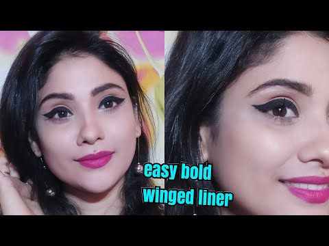 How to apply bold winged eyeliner || stay quirky liner review