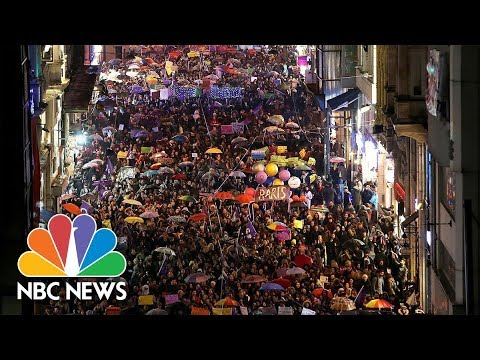 International Women's Day Draws Big Crowds Worldwide | NBC News