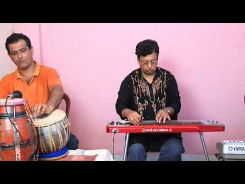 Amar Hriday  Rabindrasangeet in Electric Hawaiian Guitar by Debasish Dutta