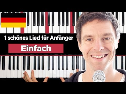 How to play piano for beginner - easy song - german