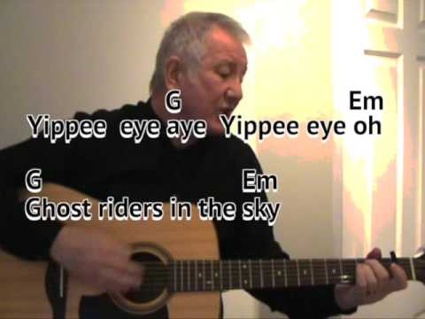 Ghost) Riders in the Sky - acoustic cover - easy chords guitar ...