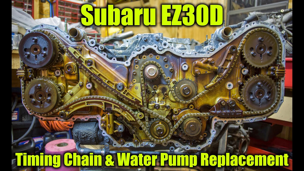 hight resolution of subaru ez30 timing chain and water pump replacement