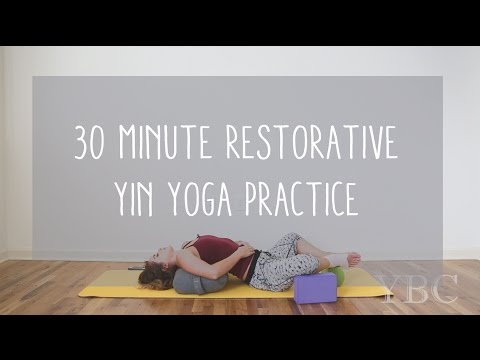 30 min Restorative Yin Yoga Practice