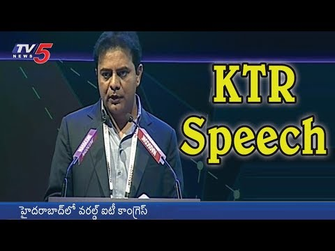 Minister KTR Speech at World IT Congress Summit 2018 | Hyderabad | TV5 News