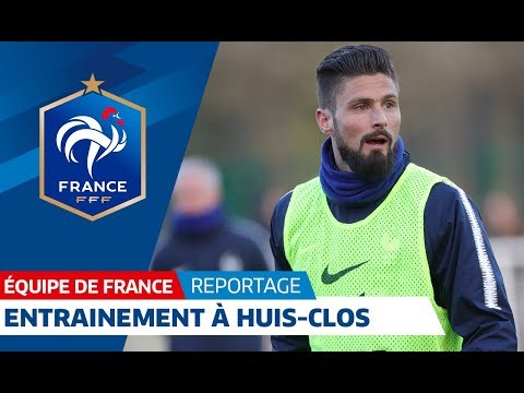 Equipe de France : Entraînement à huis clos I FFF 2018