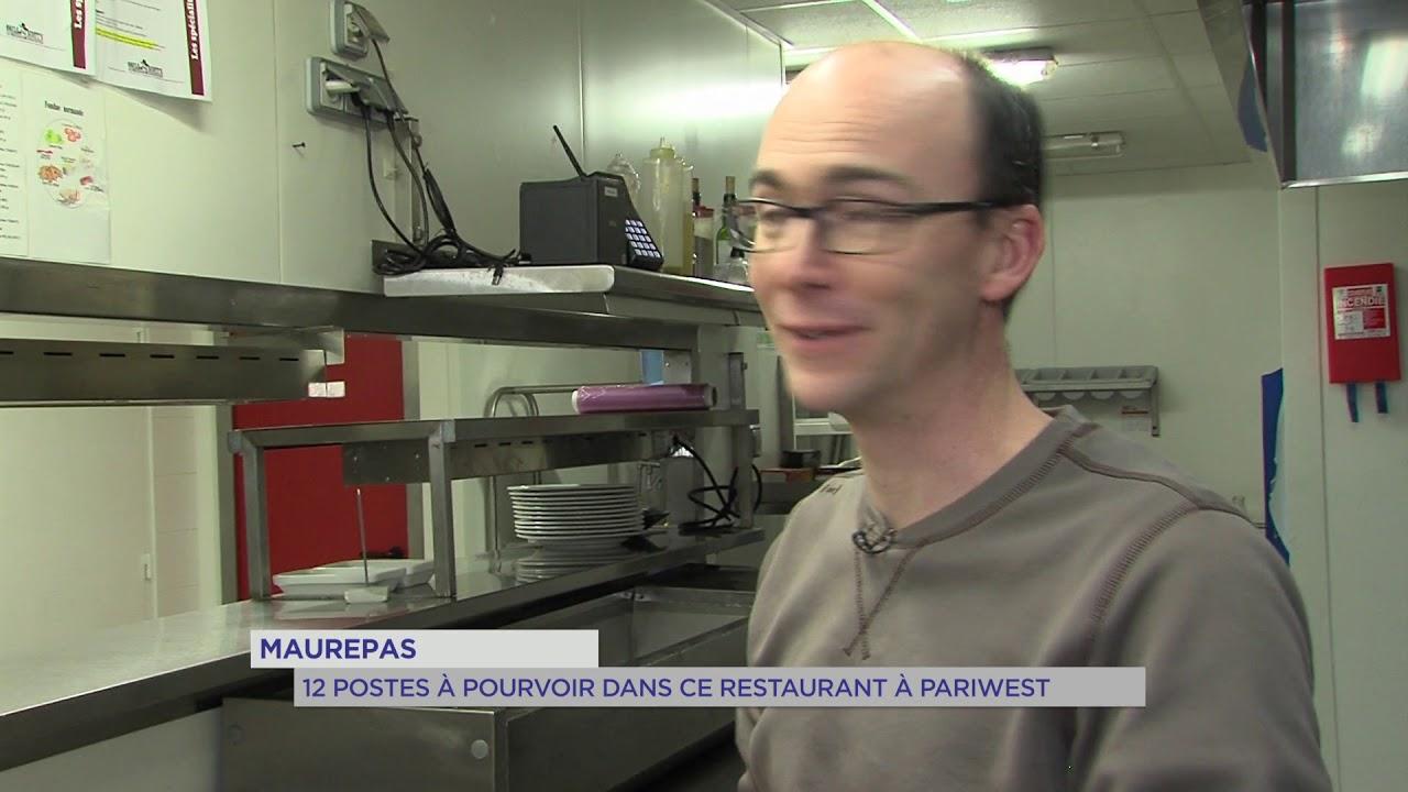 Yvelines | Maurepas : 12 postes à pourvoir dans ce restaurant à Pariwest !