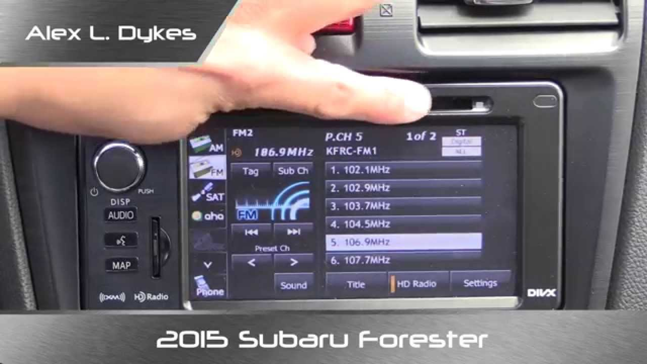 medium resolution of 2015 subaru forester radio