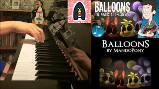 "Five Nights at Freddy's 3 Song - ""Balloons"" - MandoPony (Amosdoll Piano Cover)"