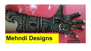 बहुत सुंदर और आसान मेहँदी डिज़ाइन || Mehndi Design || stylish mehndi design