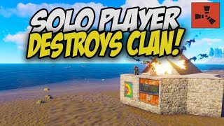 DESTROYING a CLAN while SOLO RAIDING! - Rust Solo Survival Gameplay