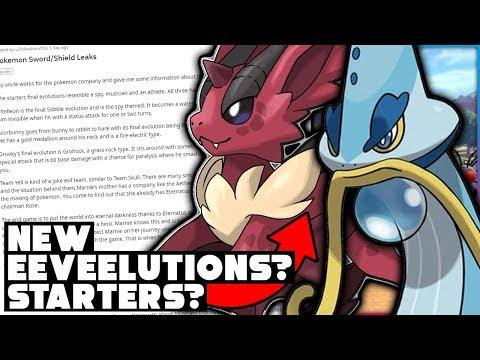 STARTER POKEMON EVOLUTIONS? 3 NEW EEVEELUTIONS? HUGE Rumor For Pokemon Sword And Shield!