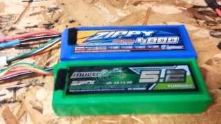 Battery Comparison 10c vs.40c Lipos in a Multi-Rotor Hover Test